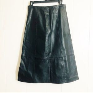 Excelled Vintage Black Leather Skirt Size Small